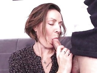 French milf hard fuck - anal, too anal mature top rated video