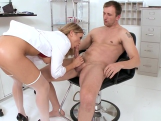 Hot Blonde Doctor Blowjob Big Dick Anal Cumshot medical hardcore blowjob video