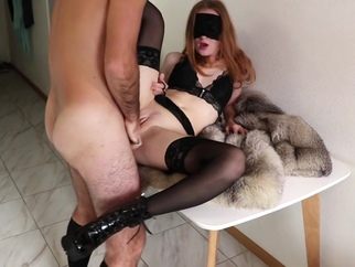 I fucked her hard and cum on her beautiful sweet ass. HD porn masturbation blond red head video