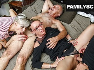 Secretaries take care of Family Business amateur blowjob cumshot video