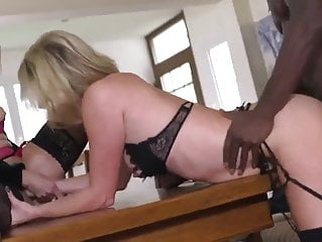 French sluts try BBC blonde mature top rated video