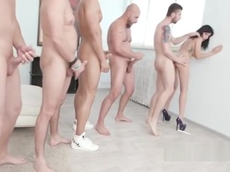 first time with 5 big cocks and she loved gangbang big dick straight video