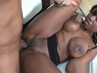 Fucking Sexy Ebony Jessica Grabbit big tits hardcore interracial video