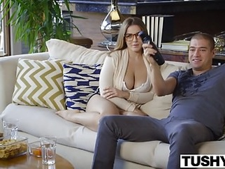 TUSHY First Anal For Curvy Natasha Nice anal blowjob brunette video
