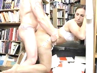 British slut Paige gets fucked in the bookstore in stockings hardcore stockings british video