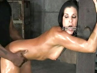 Bondage breeding leaves her shaking hardcore bdsm creampie video