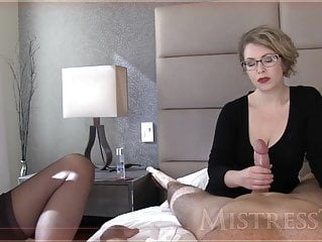 Mistress T jerks a dick mature handjob bdsm video
